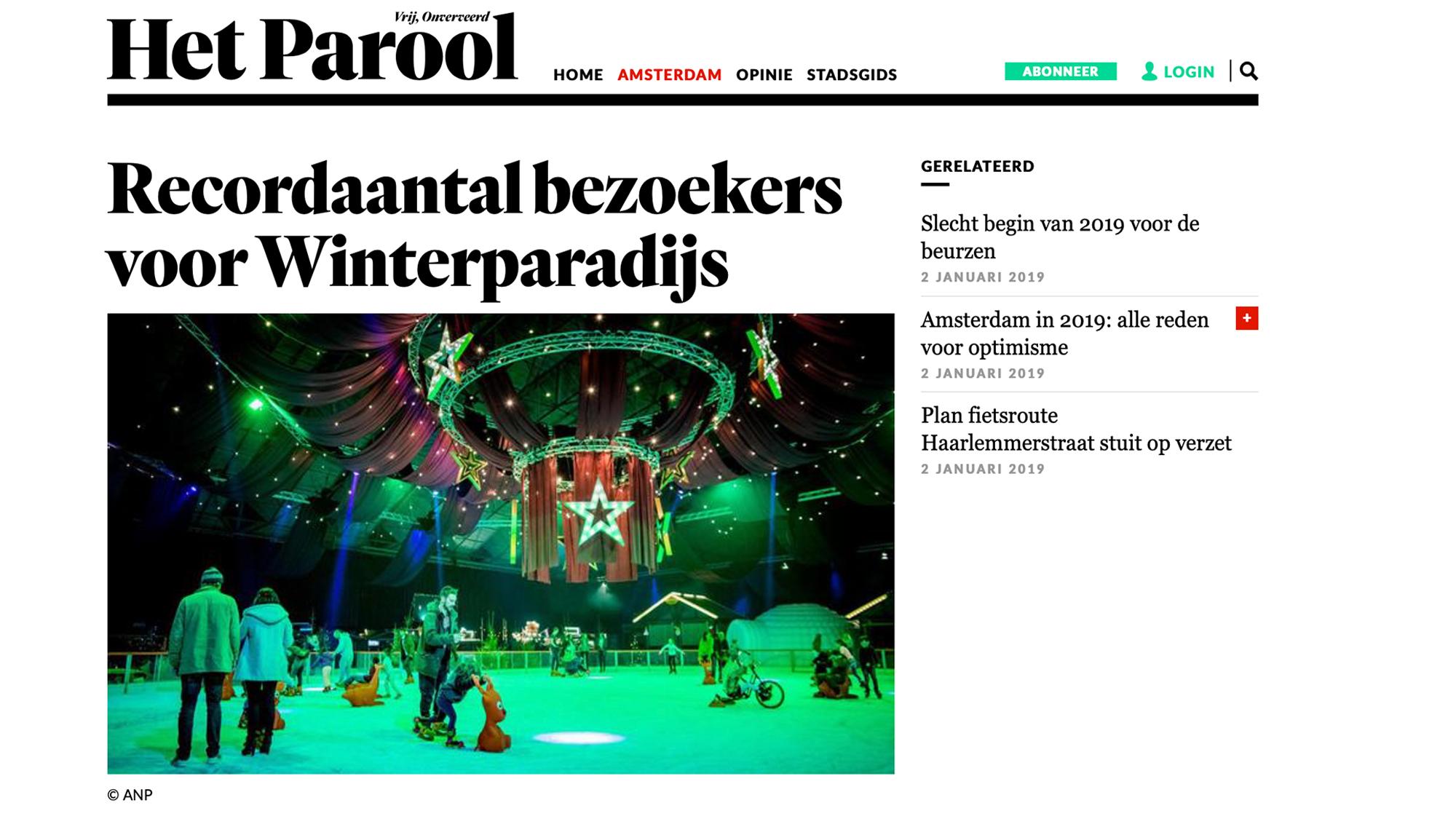 Het Amsterdamse Winterparadijs Parool